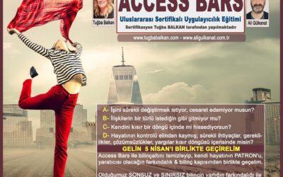 Access Bars Uygulayıcılık Eğitimi – İstanbul 5 Nisan 2018